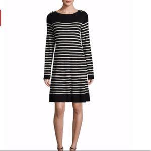 Kate Spade Broom Street Striped Long Sleeve Dress